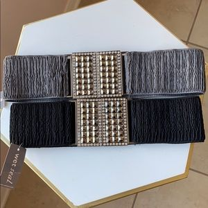 NWT Banded Bling Belts